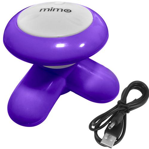 massageador portátil para pés mimo xy3199 roxo com cabo usb