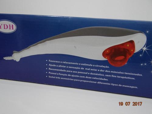 massageador tubarão pessoal com infravermelho kit 10 pçs