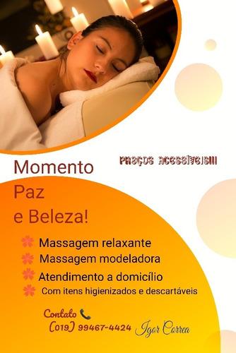 massagem relaxante e modeladora