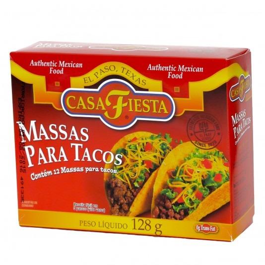 Massas Para Tacos Casa Fiesta (128gr) - R  39 29338a6a2cc0