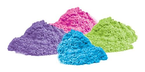 massinha de modelar 4 potes massa areia divertida colorida