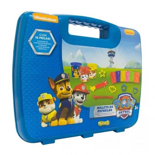 massinha de modelar maleta patrulha canina sunny - azul