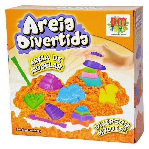 massinha modelar areia cinetica divertida bolos + 14 moldes