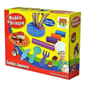 Massinha Modelar Comida Japonesa Brinquedo Criativo Dm Toys