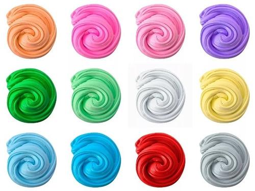 massinha slime fluffy kit c/ 12 cores dif. - frete grátis!!