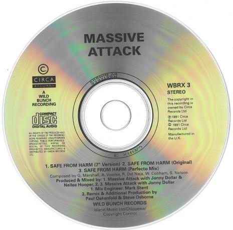 massive attack - safe from harm cd single importado envios