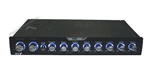 massive audio eq-7 car equalizer con ecualizador gráfico de