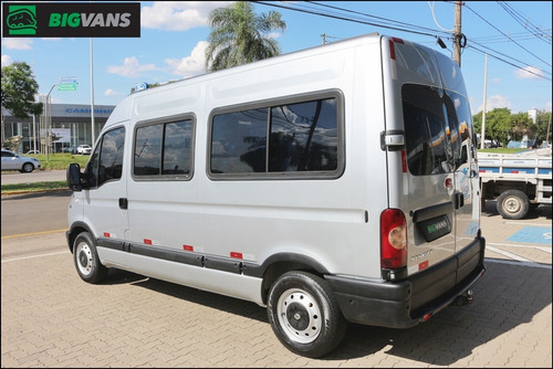 master 2007 l2h2 minibus 16 passageiros prata (0266)