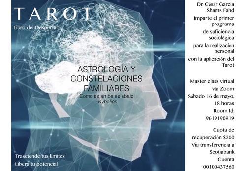 master class de tarot, constelaciones familiares y kábala
