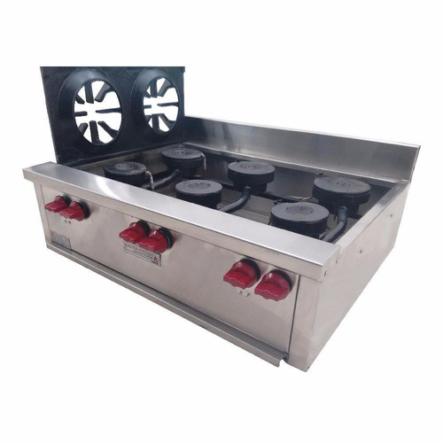 master kitchen e6qi estufa sin horno 6 quemadores 90 x 70