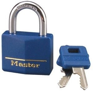 master lock 142dcm bloqueo de cobre amarillo con azul de la