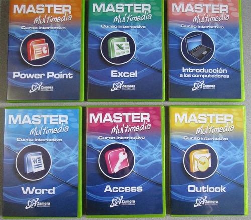 master multimedia office / diseño pc 12 cursos - zamora