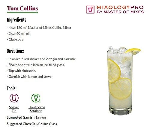 master of mixes collins drink mix, listo para usar, botel...