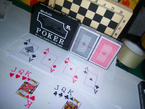 master poker plasticas card naipes cartas barajas ojo grande