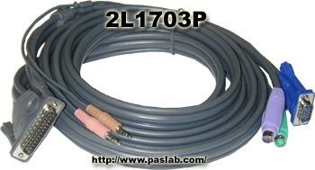 master view pro 10' ps/2 kvm cable c/audio part # 2l-1703p