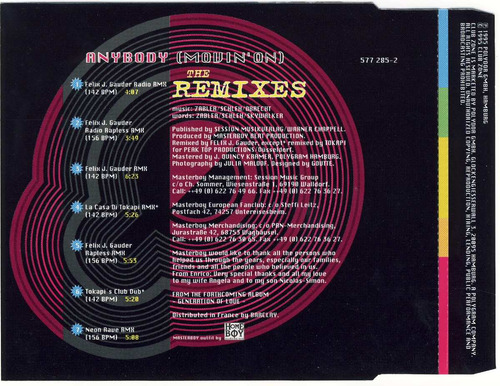 masterboy anybody the remixes cd single frances 7 versiones