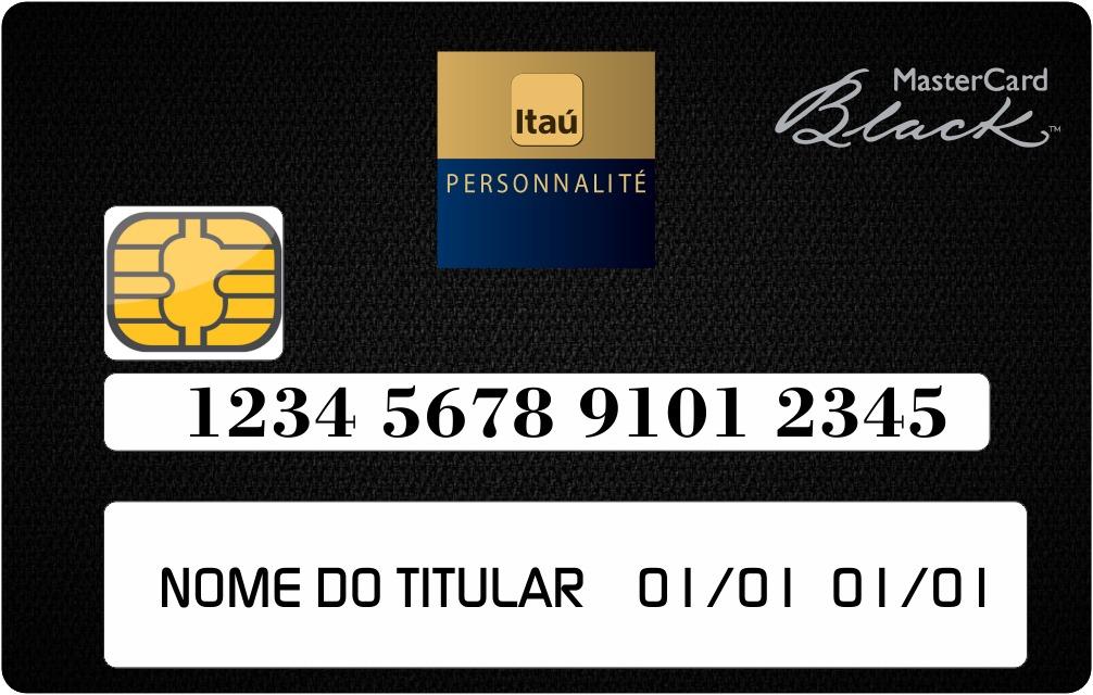 3d479adab7f60 mastercard black itau personnalité - adesivo para cartão. Carregando zoom.