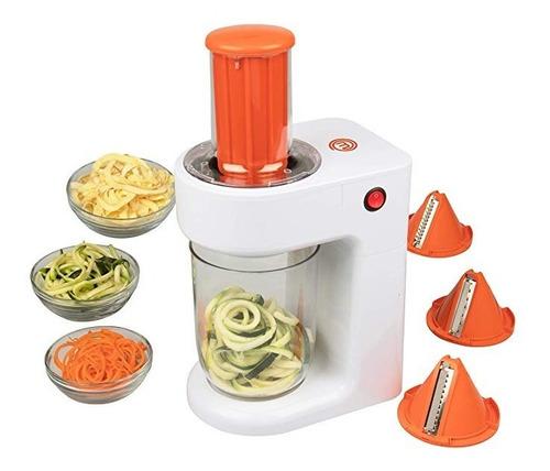 masterchef espiralizador eléctrico 3 en 1 hacer pasta verdur