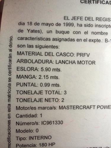 mastercraft prostar 190 año 1999 impecable.