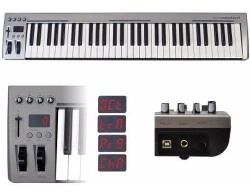 masterkey 61 teclado controlador midi usb 61 teclas
