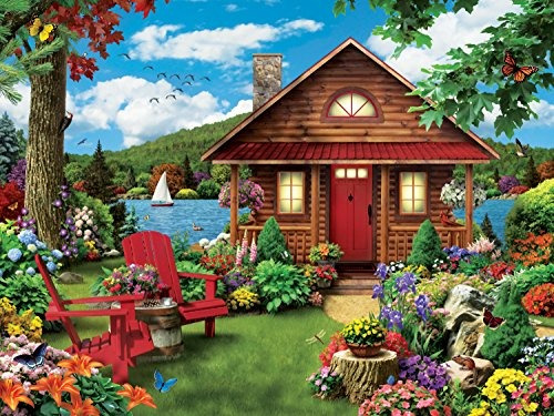 masterpieces lazy days waterfront lakeside cottage rompecabe