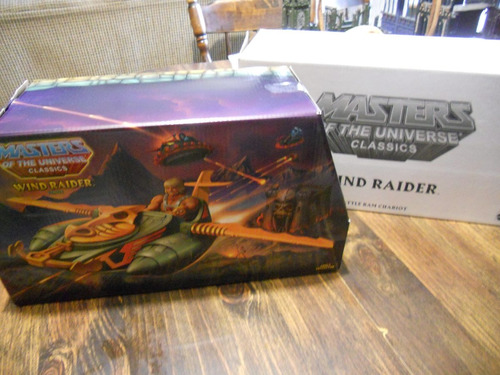 masters of the universe classics - wind raider en caja!
