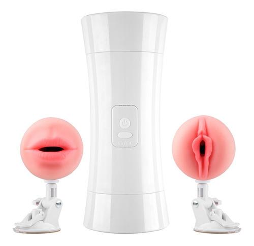 masturbador doble vibrador x2 realista vagina boca + regalos