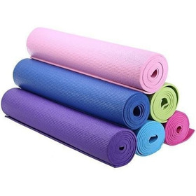 Mat De Yoga Azul 3mm Gimnasio Fitness Colchoneta Pilates