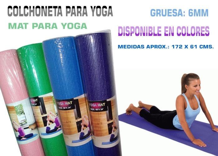 Mat Yoga Colchoneta Para Yoga 6mm Calidad 5 990 En