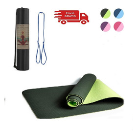 Mat Yoga Tapete 6mm Con Bolso Doble Color Excelente Calidad