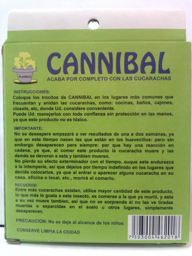 mata cucarachas cannibal
