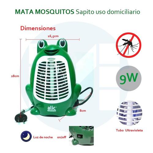 mata mosquitos infantil y luz de noche ecologico 9w pack x2