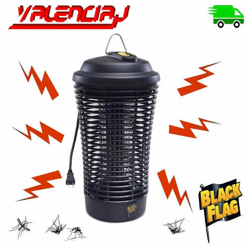 mata plagas electrico black flag 6500v luz uv y negra 40%