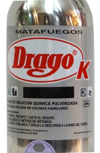 matafuegos drago acetato k 2.5 lts cocina gastronomia