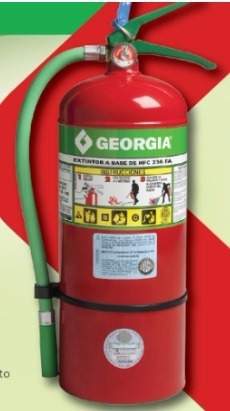 matafuegos georgia hcfc236 2,5 kgs halogenado 100% ecológico