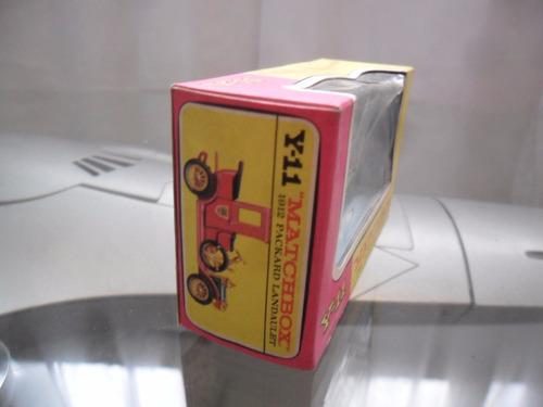 matchbox 1912 packard landaulet caja vacia original 1970