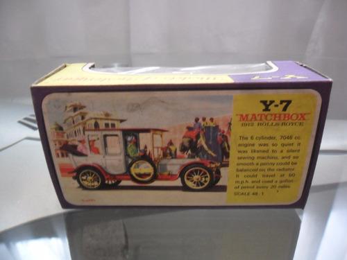 matchbox 1912 rolls royce caja vacia original 1970