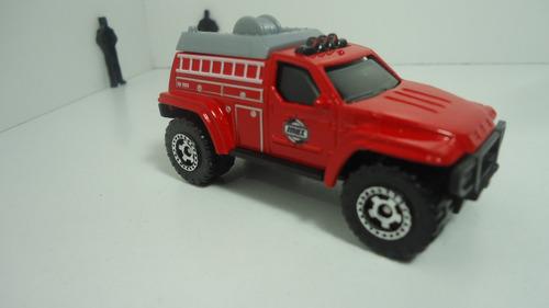 matchbox 4 x4  fire truck - rescate  exclusivo 5 pack 2014