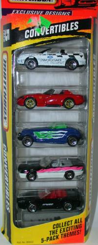 matchbox 5 pack convertibles (lacrado)