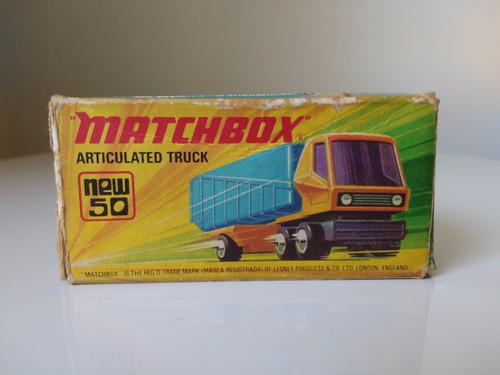 matchbox articulated truck 50 lesney