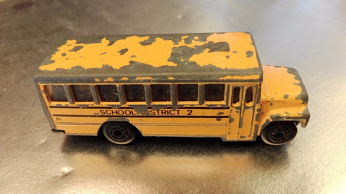 matchbox - autobus school bus de 1985 #2