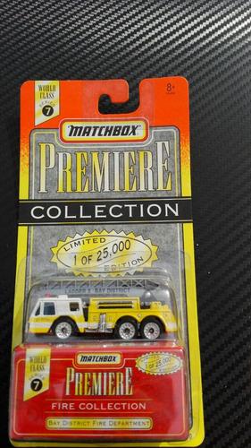matchbox bombero fire (llantas de goma)