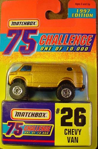 matchbox challenge chevy van (novo, lacrado)