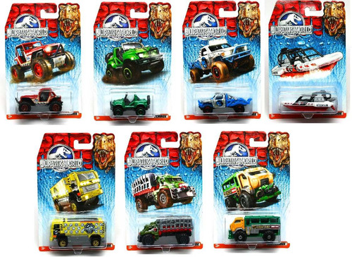 matchbox coleccion jurassic world pack de 4 carros sellados