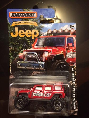 matchbox edición aniversario jeep wrangler superlift