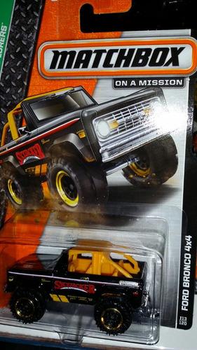 matchbox ford bronco 4x4 negro
