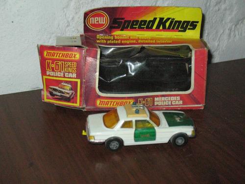matchbox k-61 mercedes police car 1975
