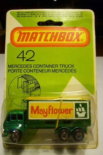 matchbox lesney- # 42 - mercedes container truck - 1/64