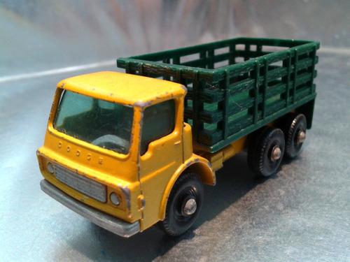 matchbox lesney - camion stake truck de 1967 m.i. england #2