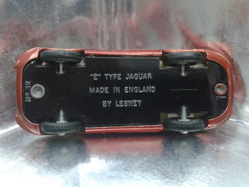 matchbox lesney - e type jaguar de 1962 m.i. england bs